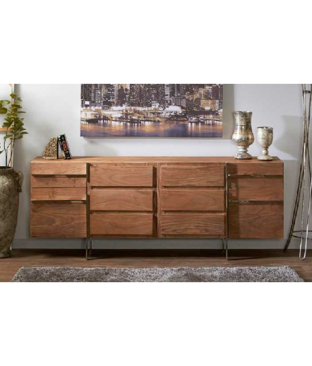 Comprar aparador buffet en madera de acacia modelo Damara de 202 cm