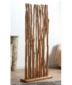 Biombo separador ramas Teka natural de 90 cm
