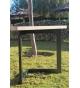Mesa de comedor PM-13 de forja 160 x 90 cm