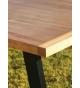 Mesa de comedor PM-14 de forja 160 x 90 cm