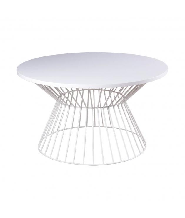 Mesa de centro Hugo con pata blanca 80 cm
