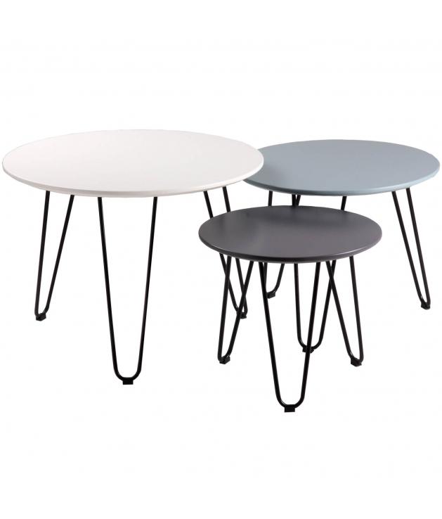 Set tres mesas centro Fabio