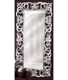 Espejo diseño arabescos plata vieja