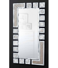 Espejo rectangular diseño cuadros