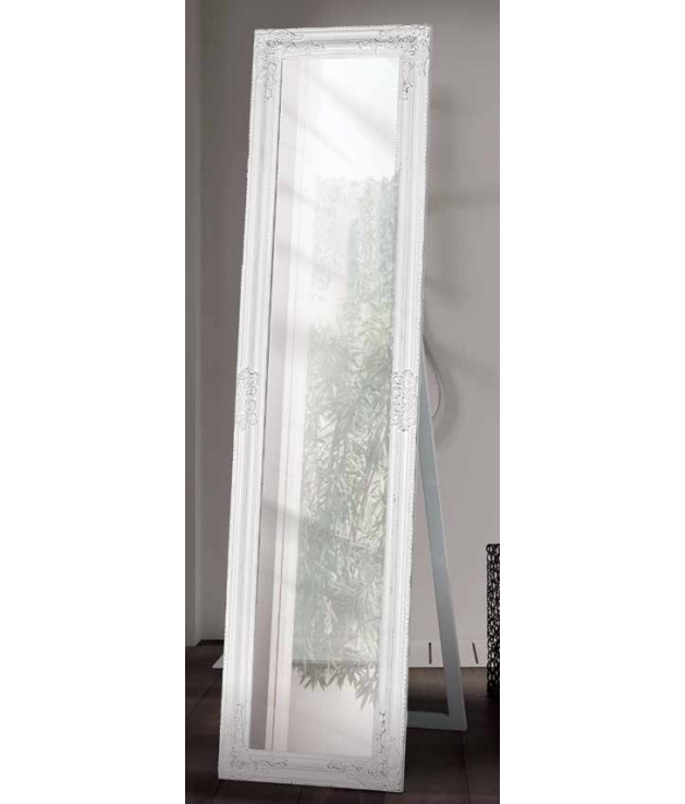 Set de 2 espejos vestidor blanco decapé
