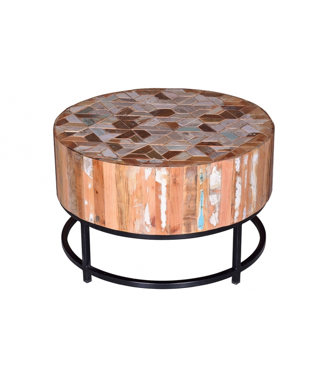 Mesa de centro en madera reciclada