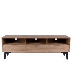 Mueble TV madera maciza acacia