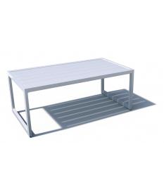 Mesa de centro de aluminio