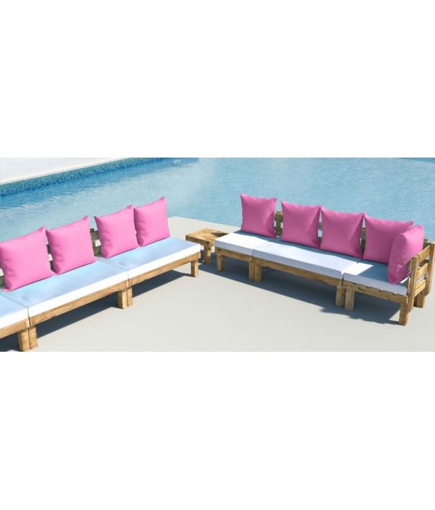 Cuandrantes respaldo 60x60cm para muebles exterior