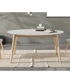 Mesa de comedor retro ovalada