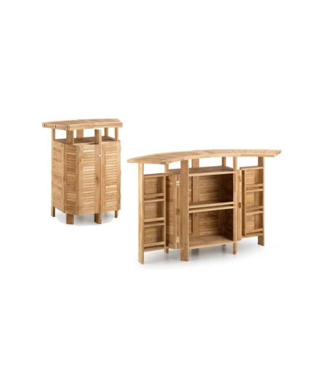 Comprar mueble bar teka 2 alas plegable for Mueble bar exterior