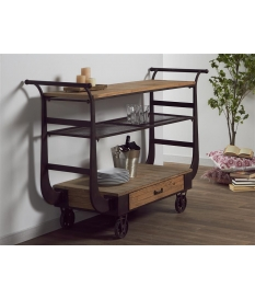 Mueble bar forja y madera