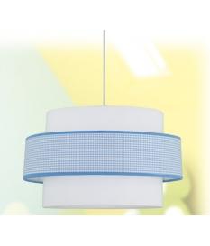 Lámpara de techo infantil Vichy dos pantallas 497