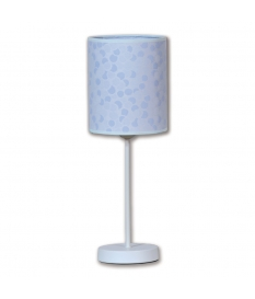 Lámpara de sobremesa Lunas con pantalla cilíndrica