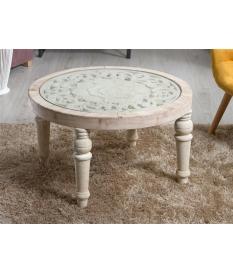 Mesa de centro tallada 80 cm