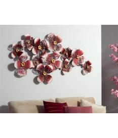 Panel forja flores rosas