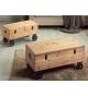 Set dos baúles madera con ruedas