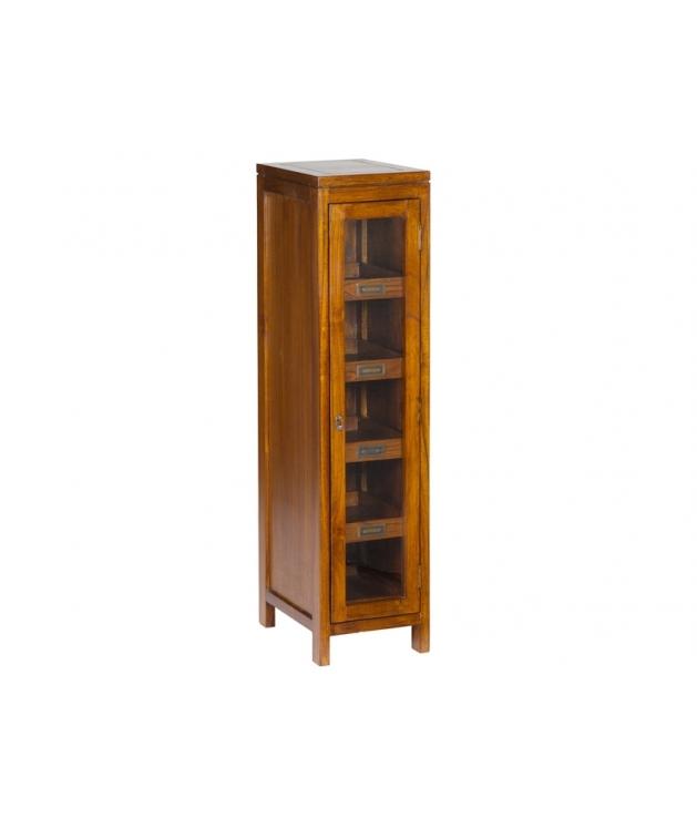 Vitrina con puerta 4 estantes