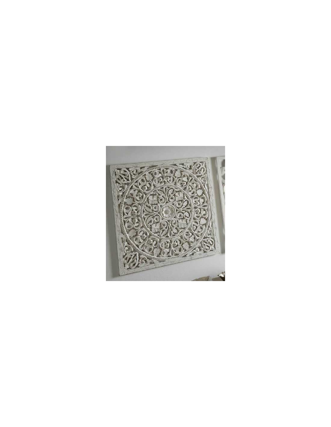 Comprar cuadro panel madera tallado c rculos color blanco - Comprar decoracion arabe ...