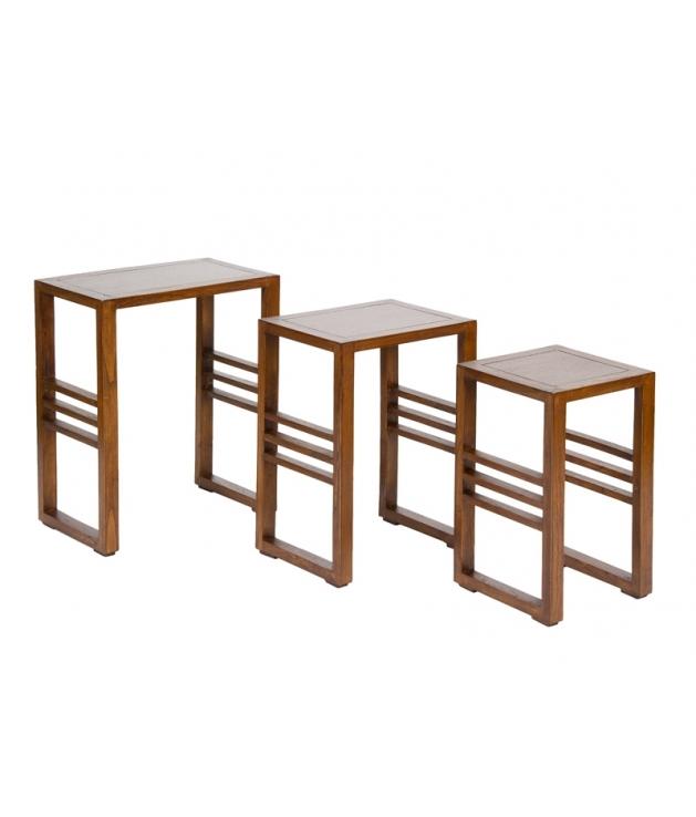 Conjunto de 3 mesas nido
