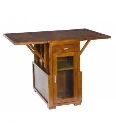 Mesa plegable con puerta