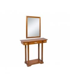 Recibidor con espejo colonial
