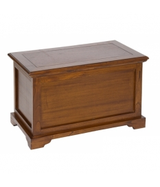 Baúl de madera Acabado marrón