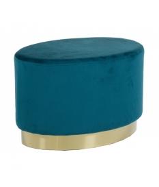 Taburete oro y azul verdoso