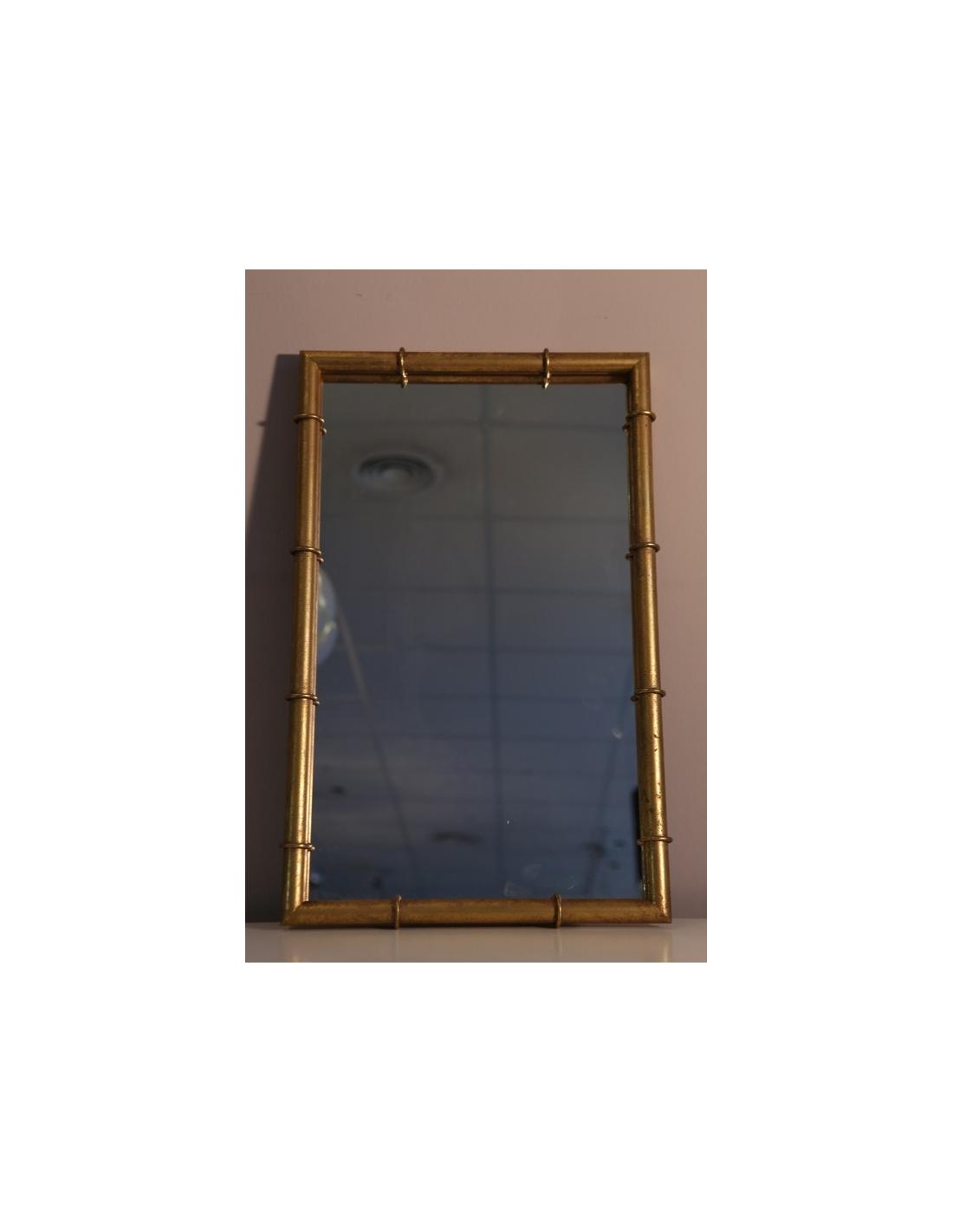 Comprar espejo rectangular bamb con marco de hierro en for Espejo rectangular con marco