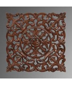Set dos cuadros panel madera tallado