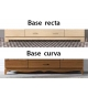 Armario Vega 150 cm 3 puertas base curva
