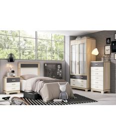 Habitación juvenil Vega con armario
