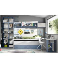 Composición cama compacta juvenil Basic3