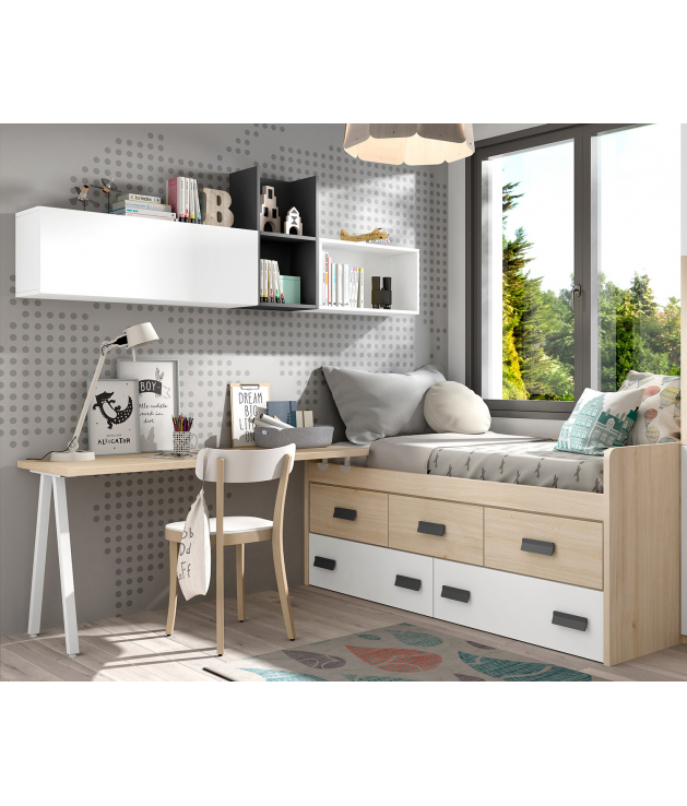 Composición habitación juvenil Basic5