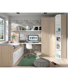 Habitación juvenil cama compacta Basic7
