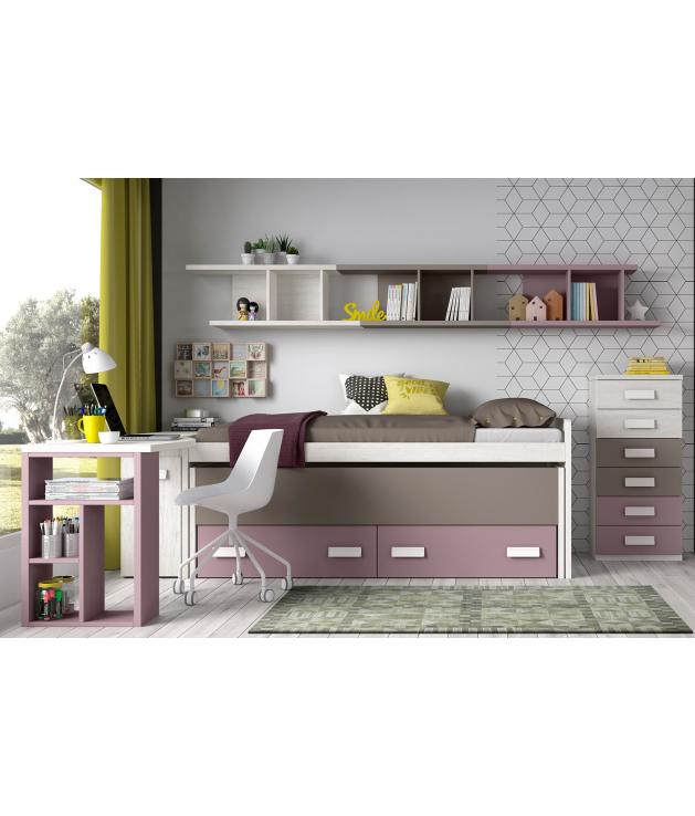 Habitación juvenil cama compacta Basic10