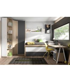 Habitación juvenil cama compacta Basic11
