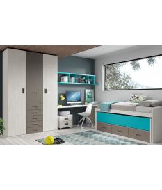 Habitación juvenil armario y compacto Basic13