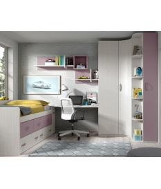 Habitación juvenil armario rincón Basic16