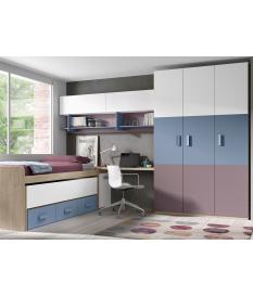 Habitación juvenil armario 3 puertas Basic20