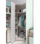 Habitación juvenil armario rincón chaflán-recto Basic21