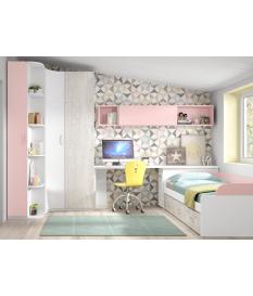 Habitación juvenil cama nido corona Basic22