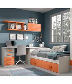 Habitación juvenil cama nido Basic26