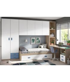 Habitación juvenil armario puente Basic30