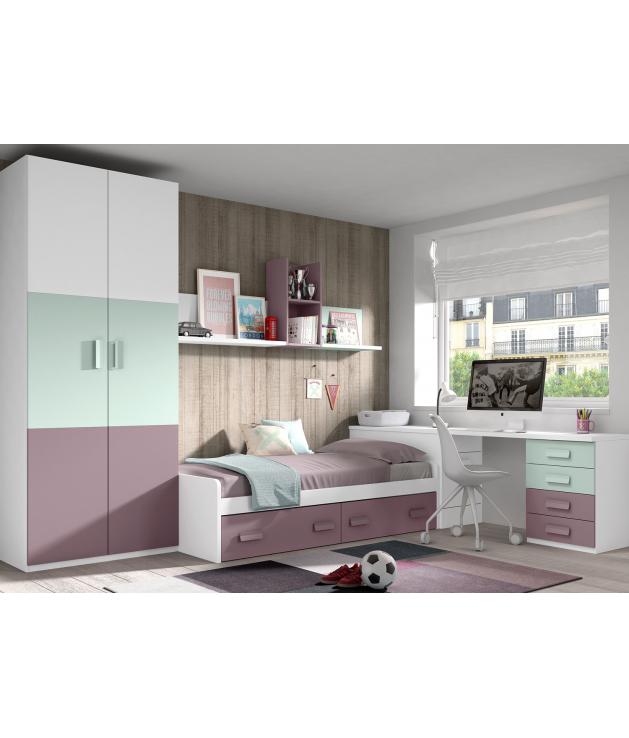 Habitación juvenil cama nido Basic31