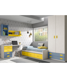 Habitación juvenil cama nido Basic33