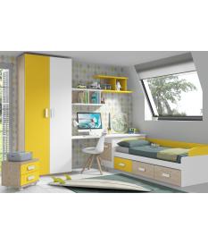 Habitación juvenil cama nido corona Basic35