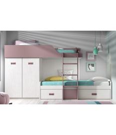 Habitación juvenil cama block Basic 37