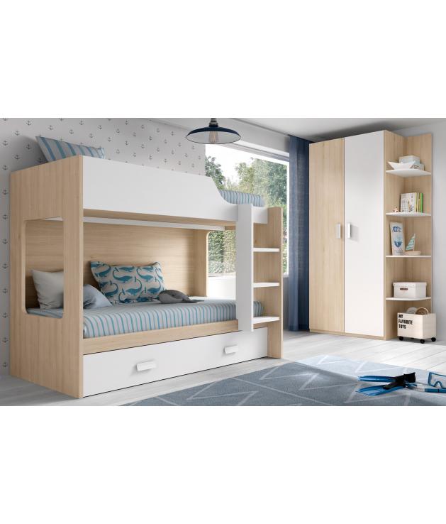 Habitación juvenil litera Basic 40