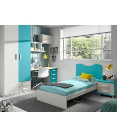 Habitación juvenil cabecero Basic 46